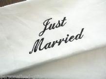 PERSONALISED PILLOWCASE - JUST MARRIED